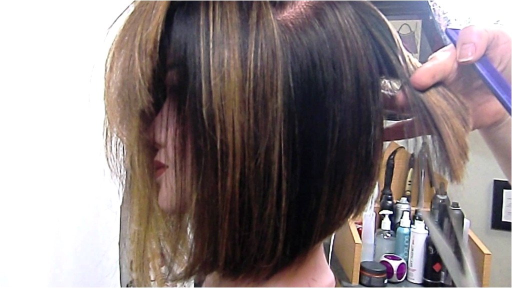 long inverted bob haircuts angled bob graduated and texturized youtube