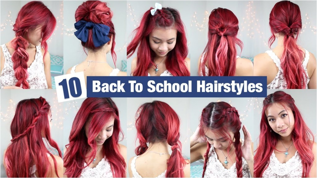 10 back to school hairstyles l quick easy hairstyles for school