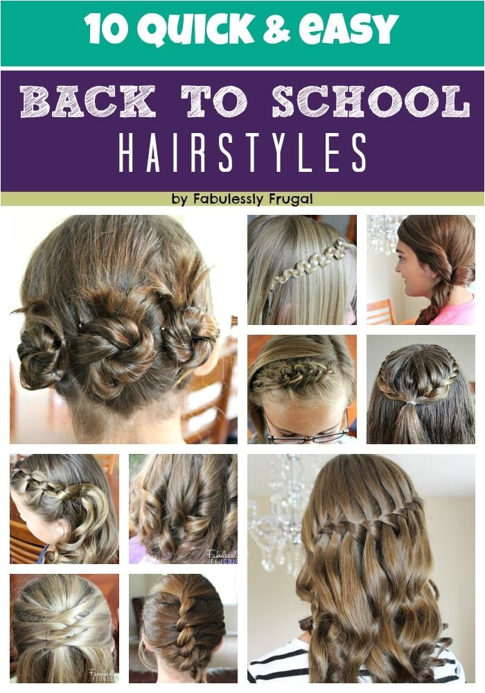 10 easy back to school hairstyleshair backtoschool and i thought doing a french braid for my daughter was really something