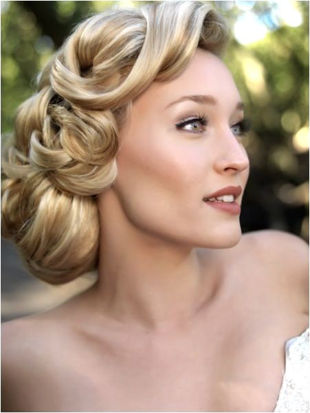 1940s wedding hair