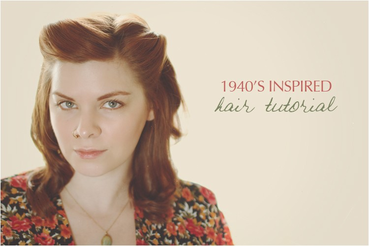 1940s inspired hair tutorial