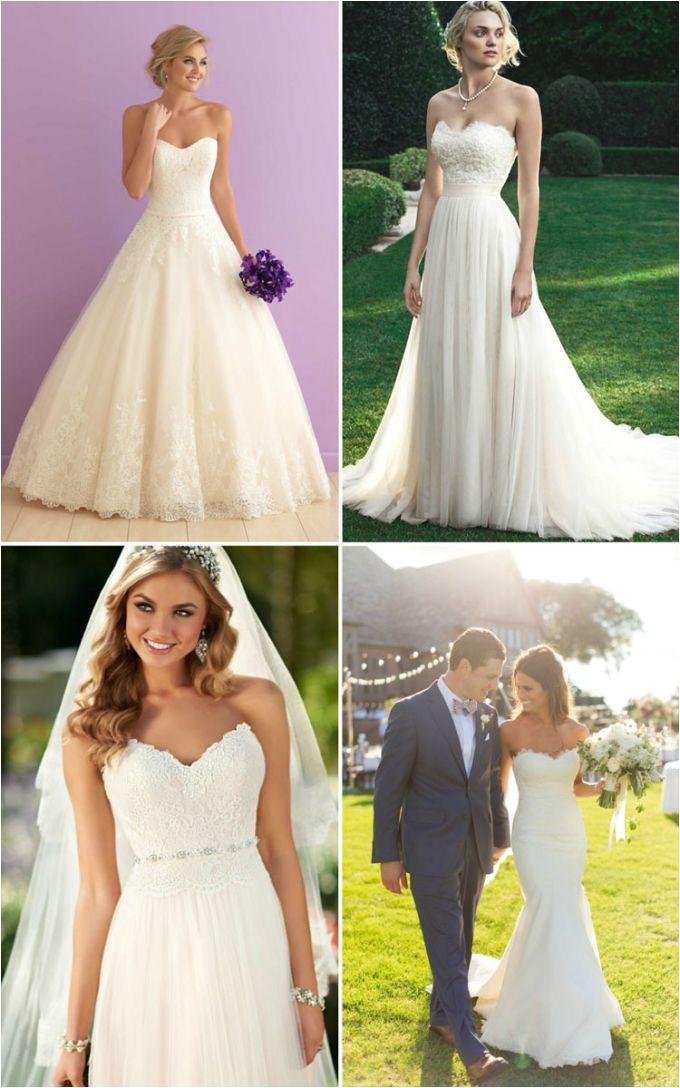 best hairstyles for strapless wedding dress