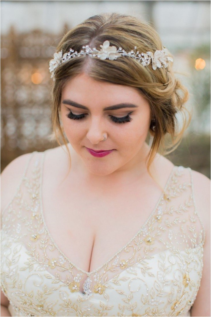 wedding hairstyle for round face