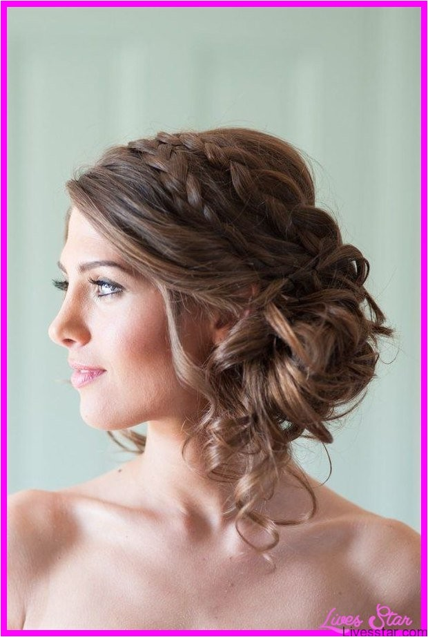 bridal hairstyles strapless dresses