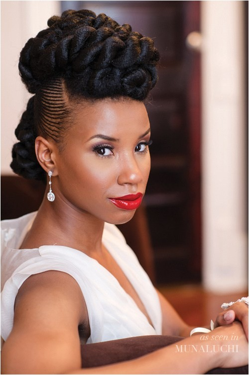 15 superb black wedding hairstyles
