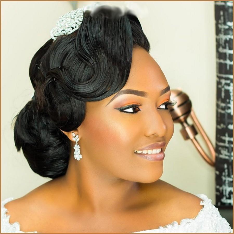 new wedding hairstyles black women 2018