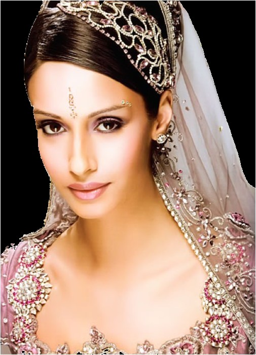 indian wedding hairstyle for round face