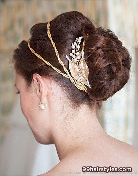 classic bun wedding hairstyle