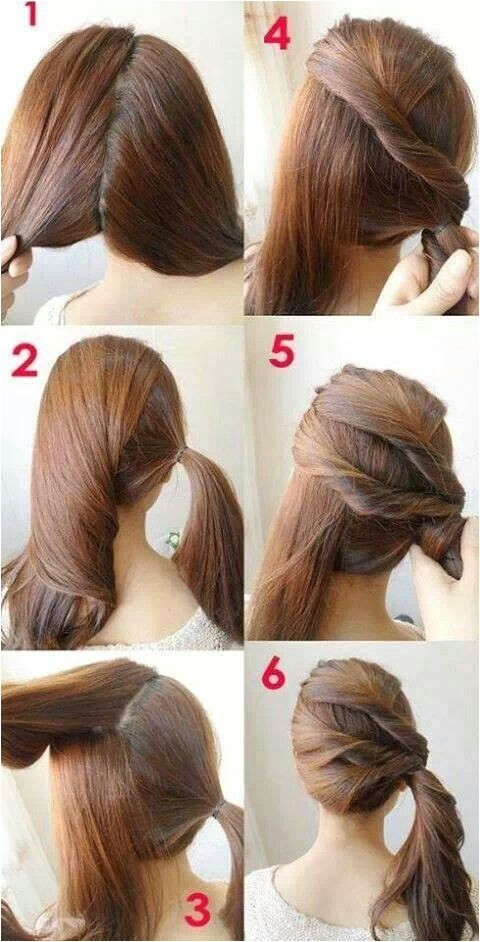 Cool Easy Hairstyles Step by Step 7 Easy Step by Step Hair Tutorials for Beginners Pretty