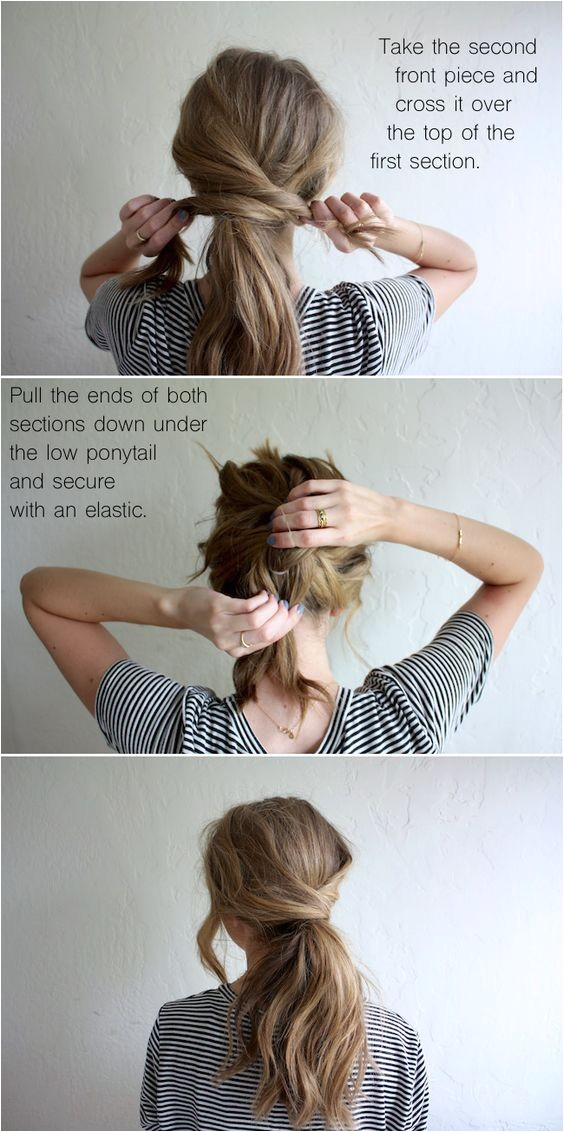 cute ponytails for long medium length hair