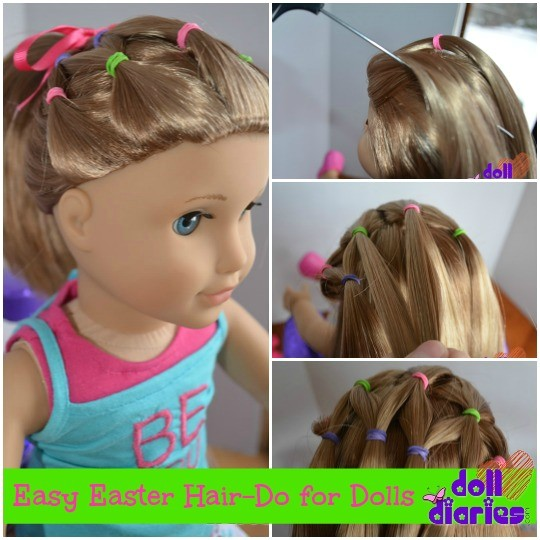 easy easter hair do for dolls