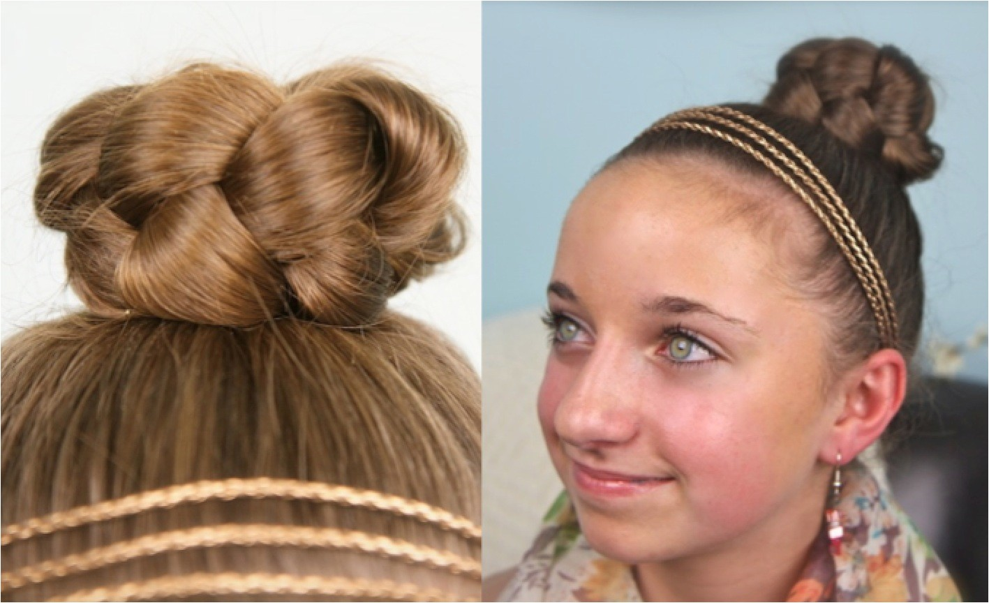 simple braided bun cute quick style designed for young teenagers