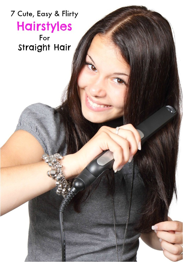 Cute Easy Hairstyles for Straight Hair for School 7 Cute Easy and Flirty Hairstyles for Straight Hair My