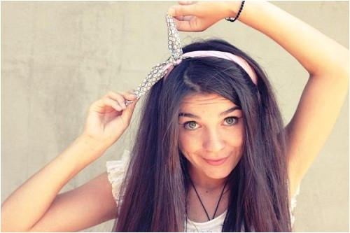 easy hairstyles for straight hair 2013