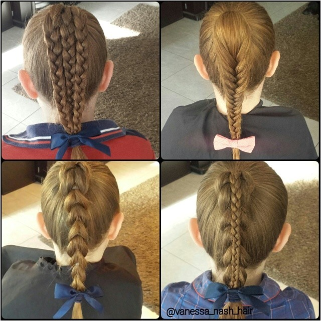 cute school hairstyles for everyday braided ponytail