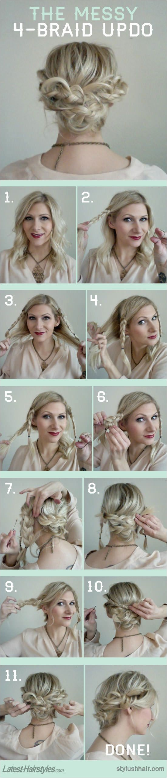 Cute Easy to Do Hairstyles for Medium Length Hair 15 Fresh Updo's for Medium Length Hair Popular Haircuts