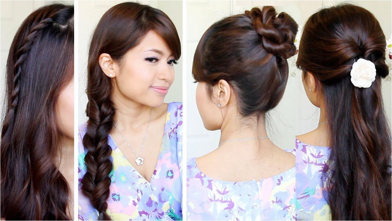 cute hairstyles easy for school