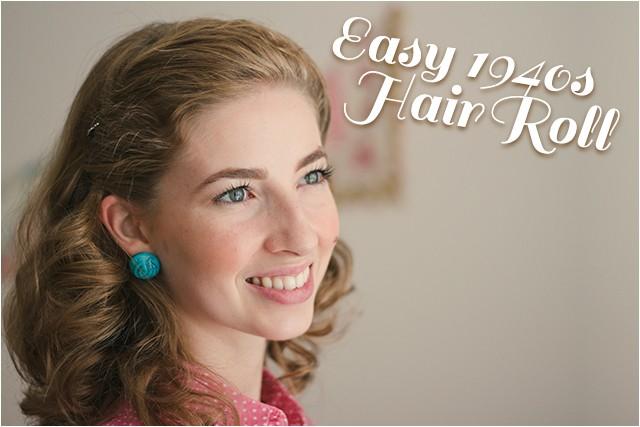 easy 1940s hair roll tutorial video