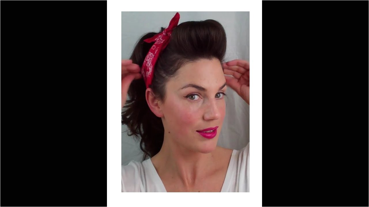 Easy 1950s Hairstyles 6 Pin Up Looks for Beginners Quick and Easy Vintage