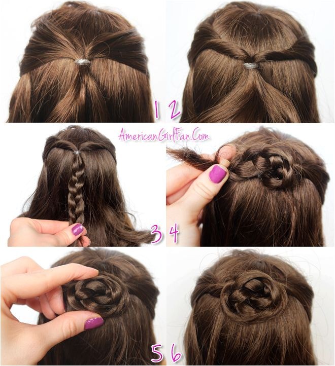 Easy American Girl Doll Hairstyles Step by Step 1
