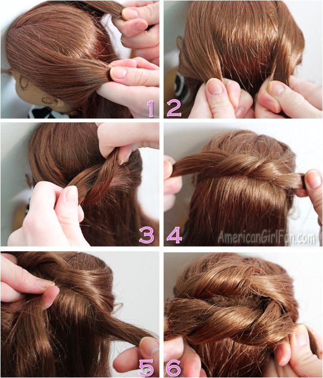 Easy American Girl Doll Hairstyles Step by Step Steps to Do A Knotted Bun Doll Hair Styling