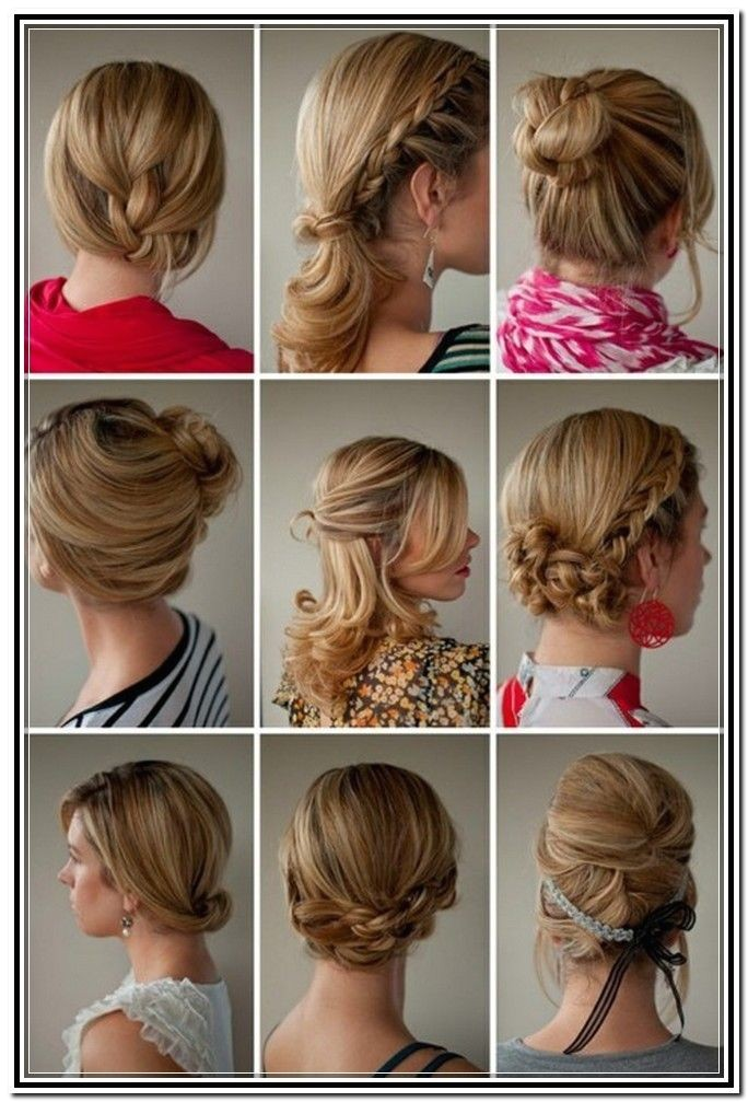 Easy and Fast Hairstyles for Medium Length Hair Easy Updos for Medium Length Hair Tutorial In Updos