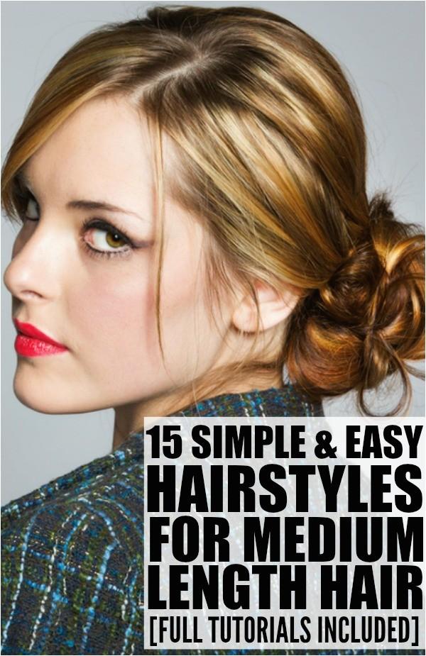 15 hairstyles for medium length hair