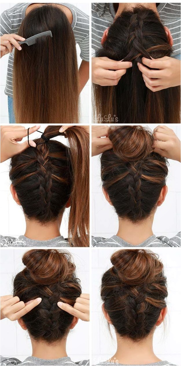 easy hairstyles to do at home step by step