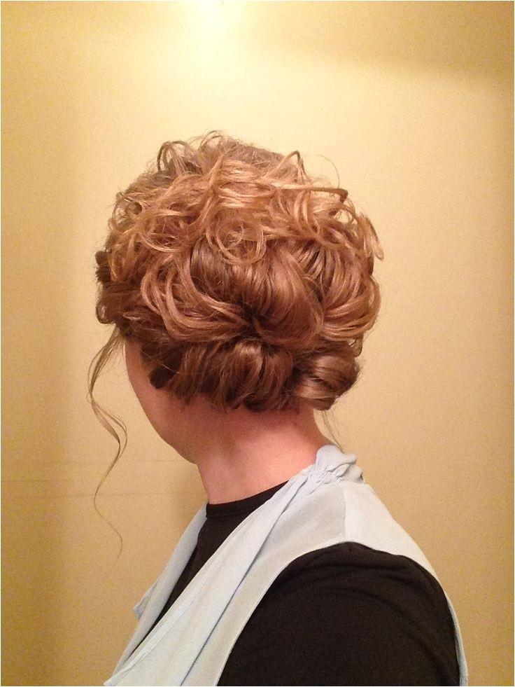 easy curly updo