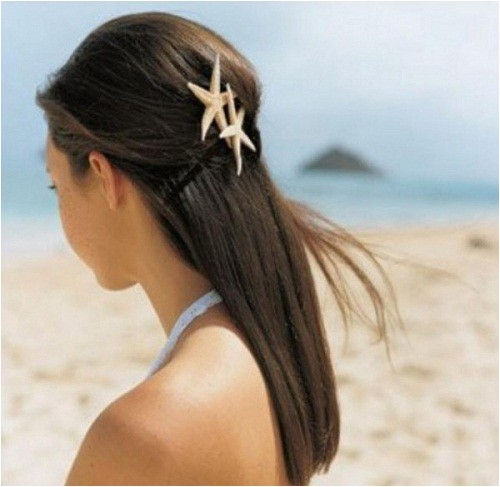 simple beach wedding hairstyles for long hair 2014