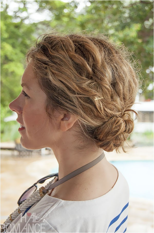 1 minute hairstyle braided bun in curly hair new video tutorial
