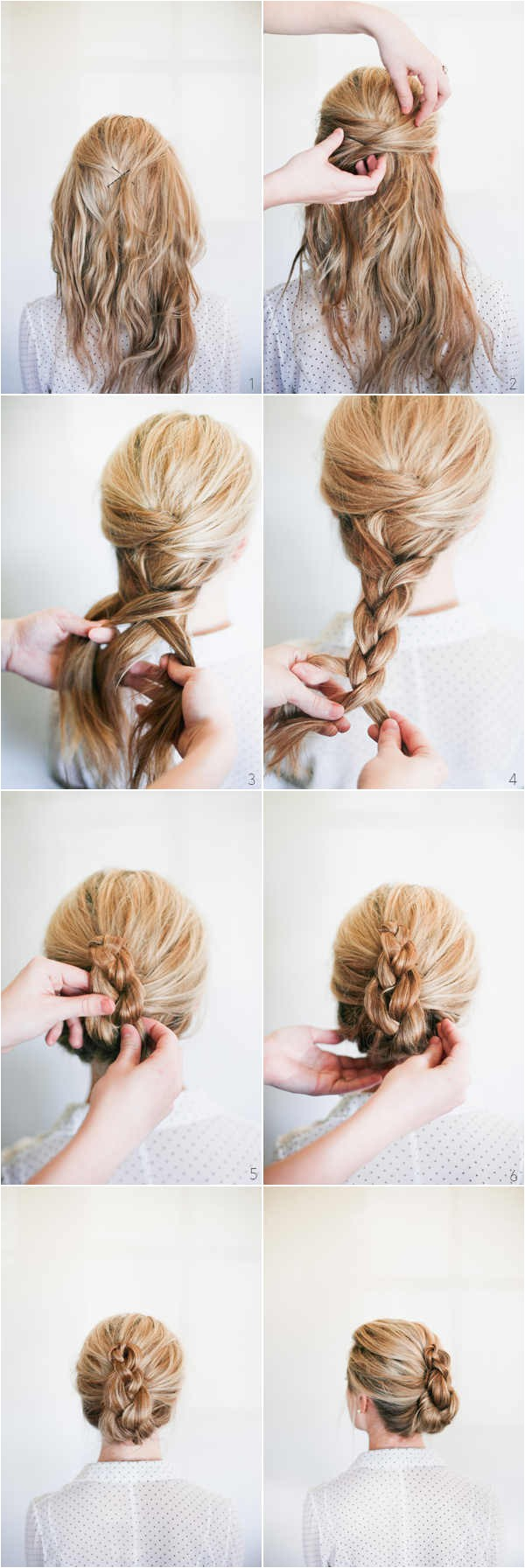updo hairstyles step by step