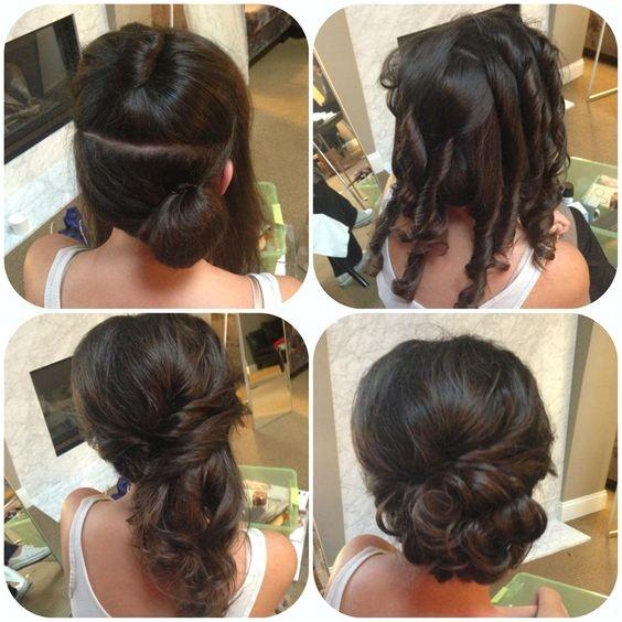 amazing bun updo ideas for long medium length hair