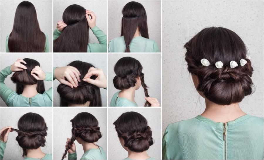 wedding hairstyles elegant bridal updo tutorial