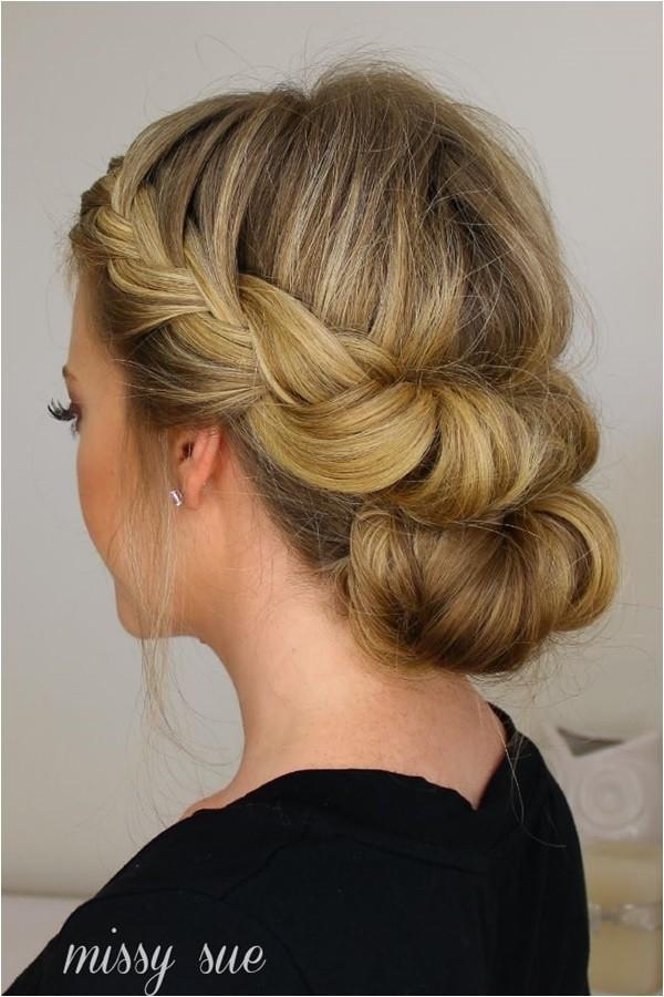 easy bun hairstyles for long hair and medium hair