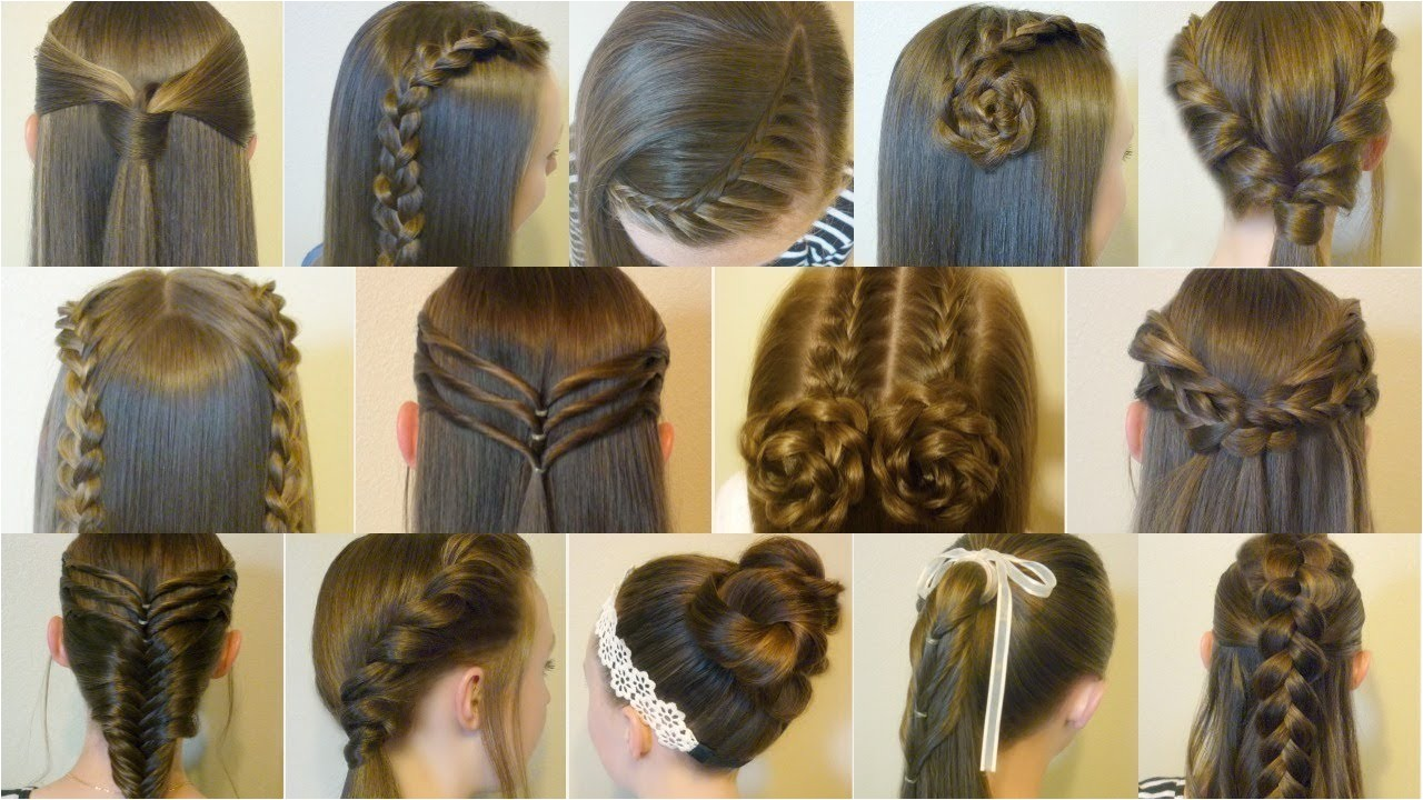 14 cute and easy hairstyles for back to school