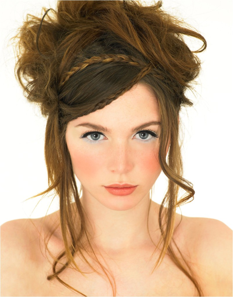 braid hairstyles with bangs