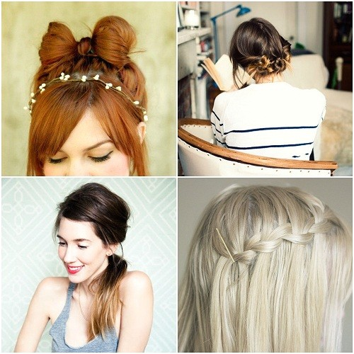 very quick easy pretty hairstyles for school 2014