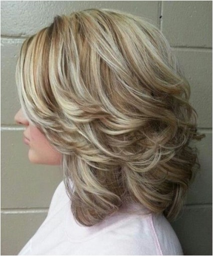 easy care medium length layered hairstyles