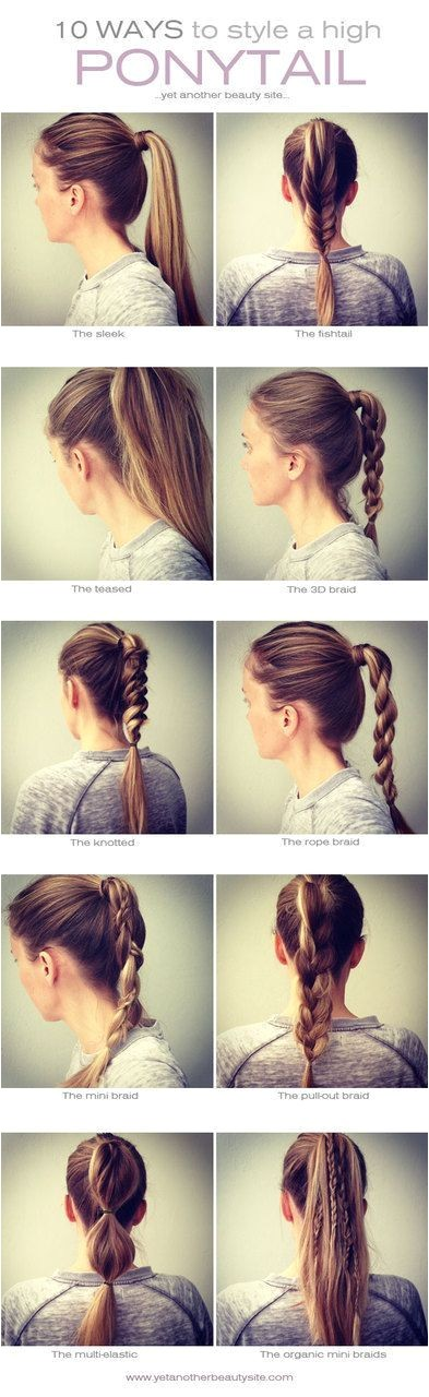 Easy Casual Hairstyles for School 1