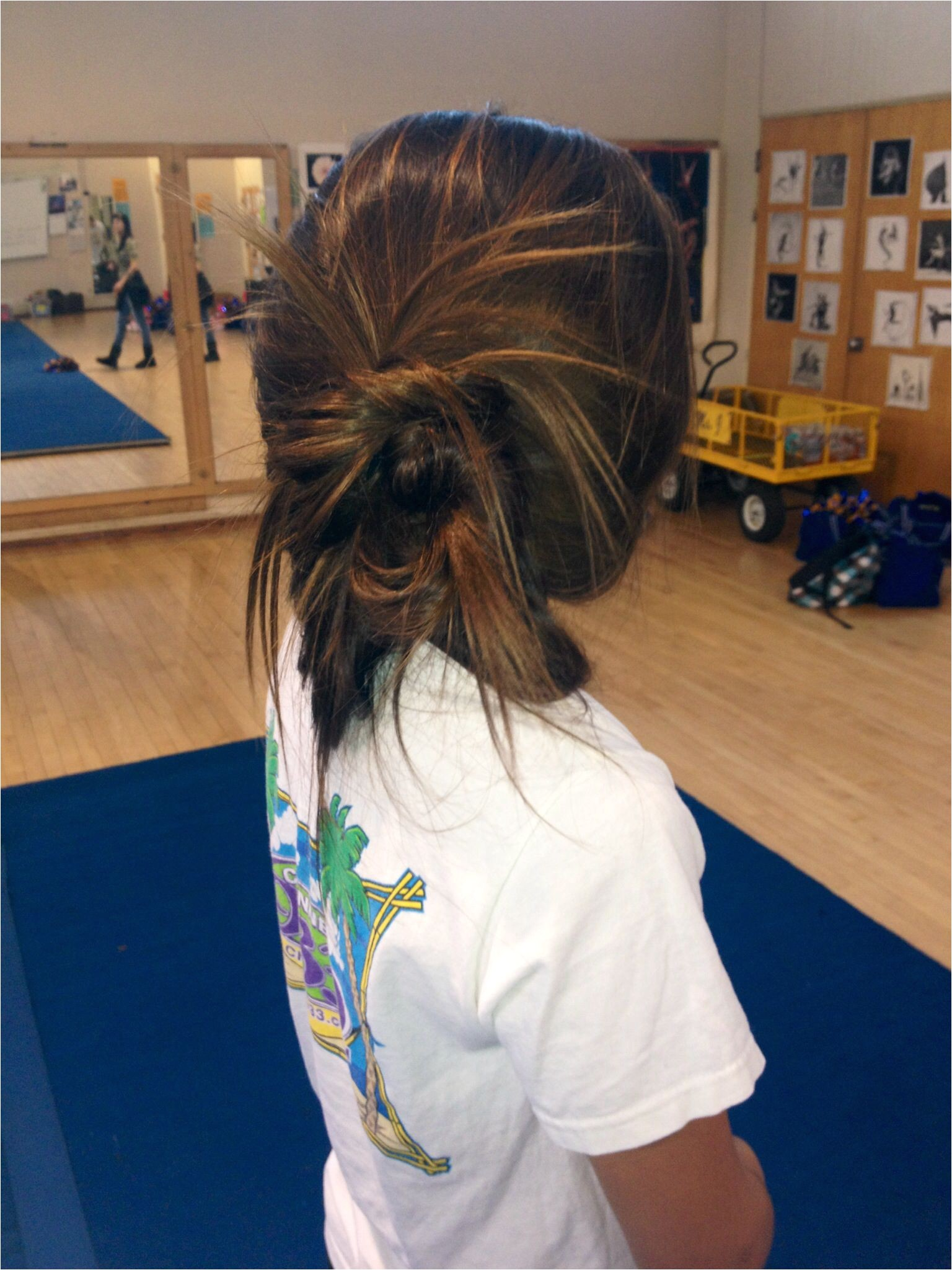 cute hairstyles cheer practice