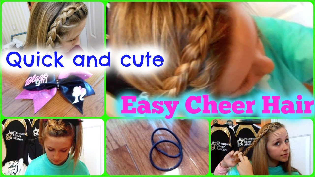 Easy Cheerleading Hairstyles Quick and Easy Cheer Practice Hairstyles