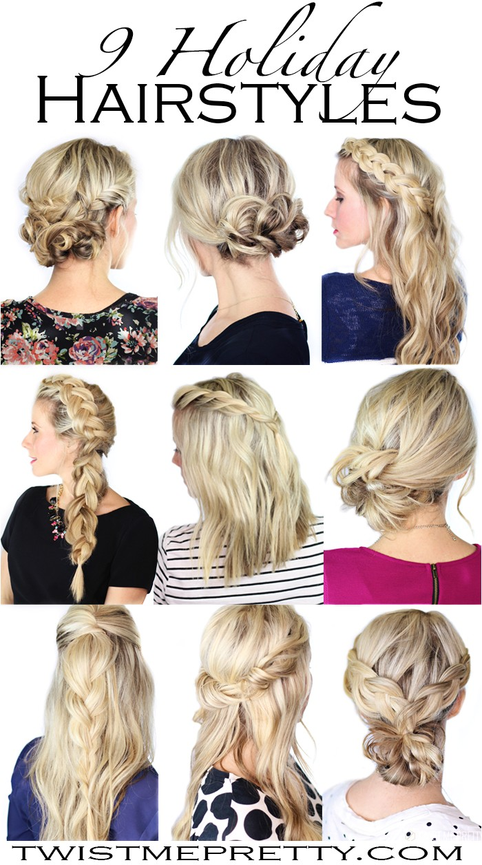 9 holiday hairstyles