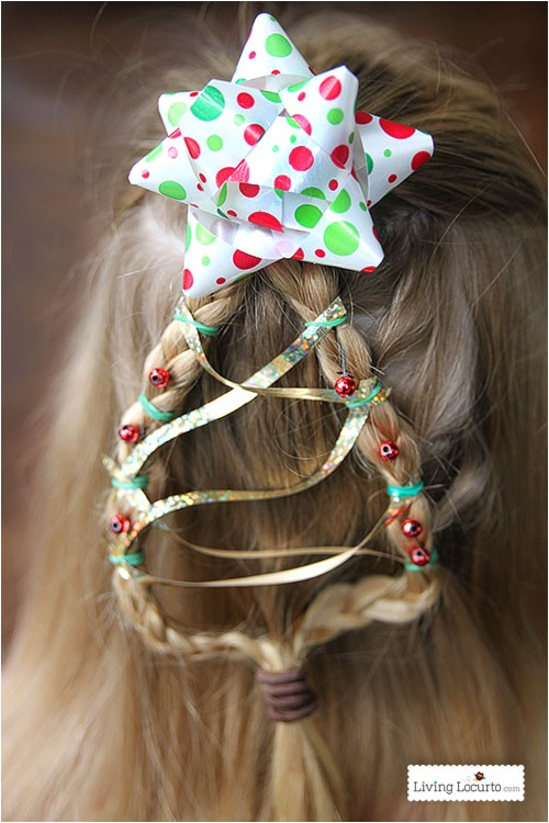christmas tree braid hairstyle