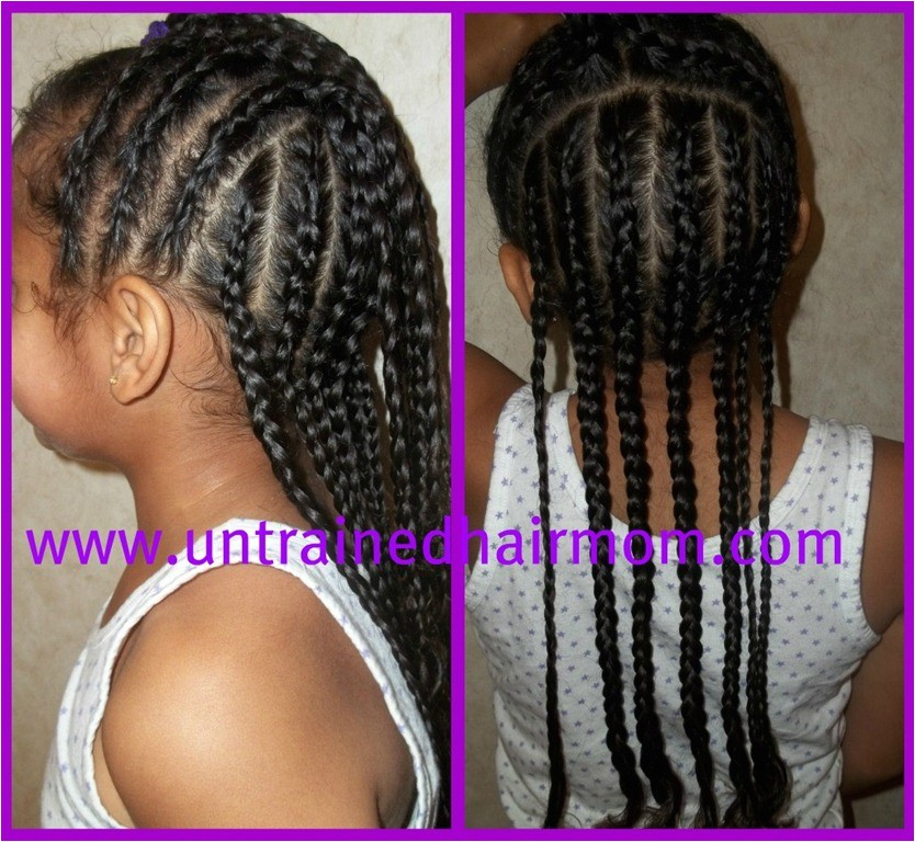cute easy cornrow style for kids