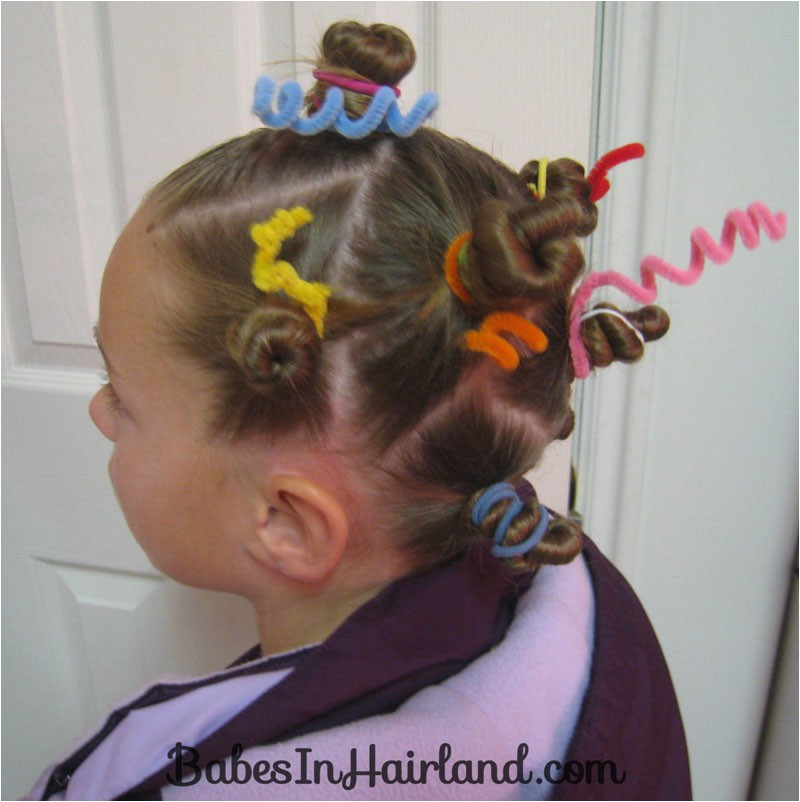 crazy hair day styles