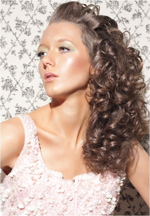 quick easy hairstyles for long curly hair pictures