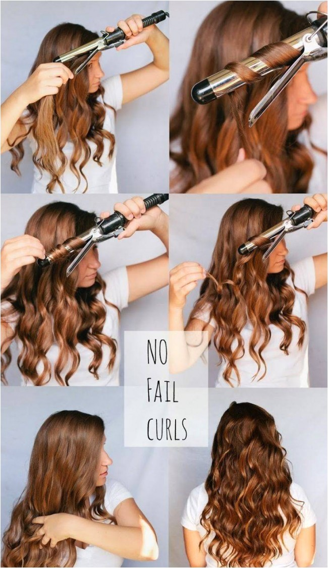 curl your hair using curling iron 2