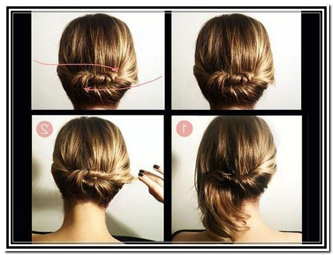 ideas for easy do it yourself updos for long hair
