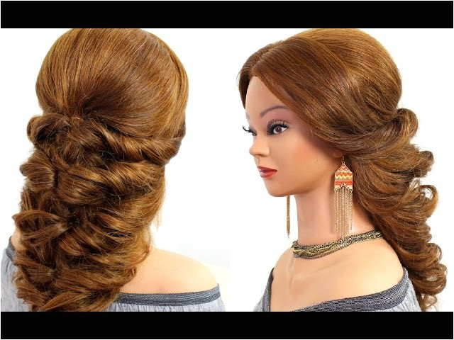 easy wedding prom hairstyle for long hair